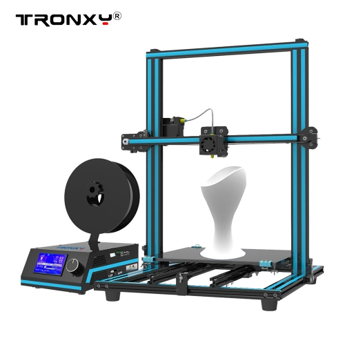 Tronxy X3S 3D Printer 3-Steps Installation Dual Z Screws Double Fans 330 * 330 * 420mm Print Size