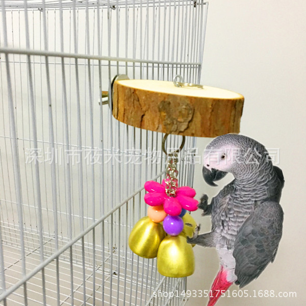 middle and small size parrot toys cage hanger small bell gnaw toys hamster parrot raw wood platform diving platform 118g