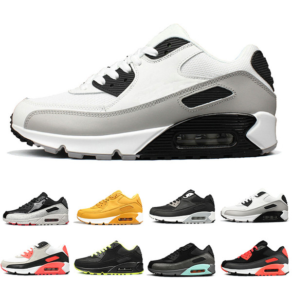 2020 New Black White Desert Designer Sneakers Classic 90 Mens Running Shoes For Women Sports Men Trainers Brand 90s Chaussures 7-12