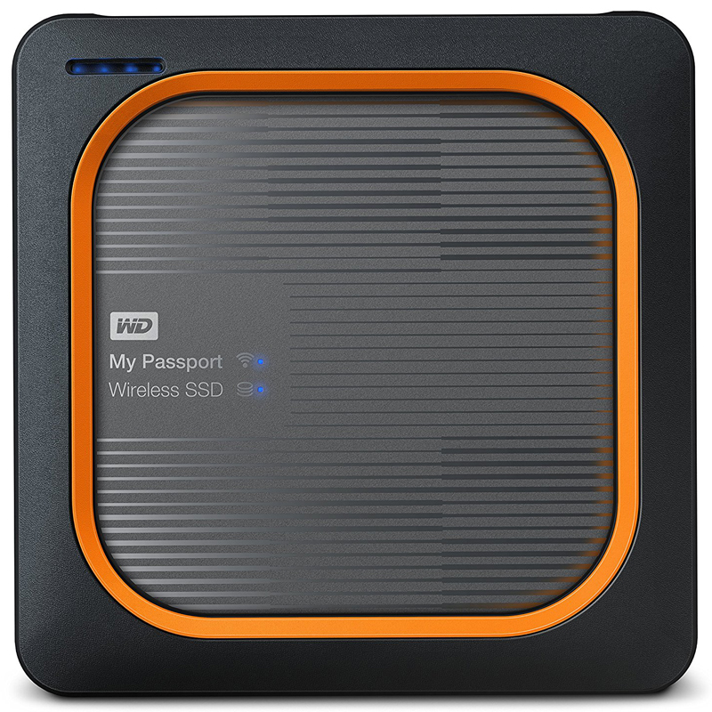 WD My Passport 250GB USB 3.0 Wireless SSD Drive - Black