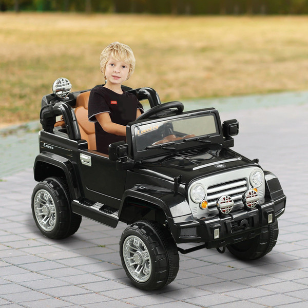 12v kids battery powered off road truck with remote control electronics toy car