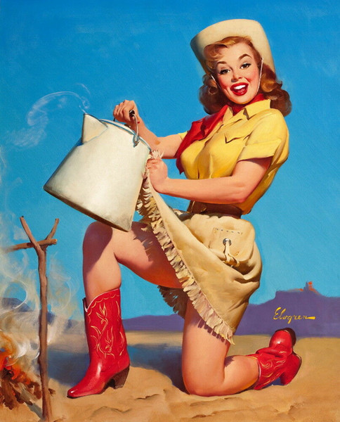 Gil Elvgren Pin Up Girls 08 Home Decor Handcrafts /HD Print Oil Painting On Canvas Wall Art Canvas Pictures 200216