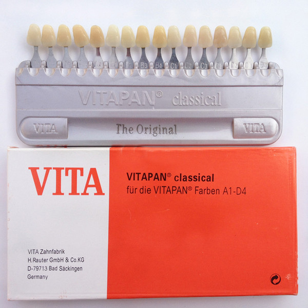 Wholesale-New Dental Dentist Teeth Whiting Porcelain VITA Pan Classical 16 Color Shade Guide Teeth