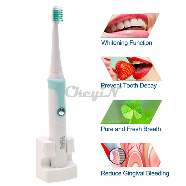 Wholesale-30000/min Kemei Rechargeable Electric Toothbrush + 4 Heads Smart Waterproof Ultrasonic Toothbrush Oral Hygiene Dental Care 13#65