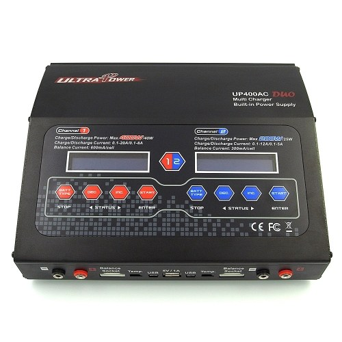 ULTRA POWER UP400AC DUO 2-Way 2 * 200W High Power 1-6S LiIo/LiPo/LiFe/LiHV/NiCd/NiMH Battery Balance Charger Discharger