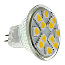 MR11 1.5W 12x5050SMD 140-160LM 2700-3000K Warm White Light LED Spot Bulb (12V)