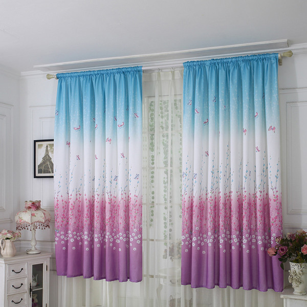 drop shipping butterfly curtain tulle window treatment voile drape valance 1 panel fabric curtains