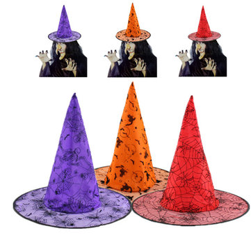 Halloween Pointy Sorceress Witch Wizard Party Costume Hat