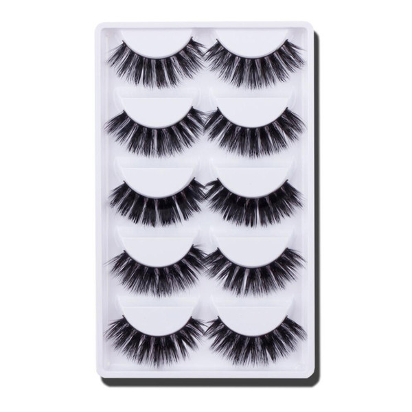 2019 New Fashion 5 Pair 3D Natural Thick False Fake Eyelashes Eye Lashes Makeup Extension Maquiagem Drop Shipping