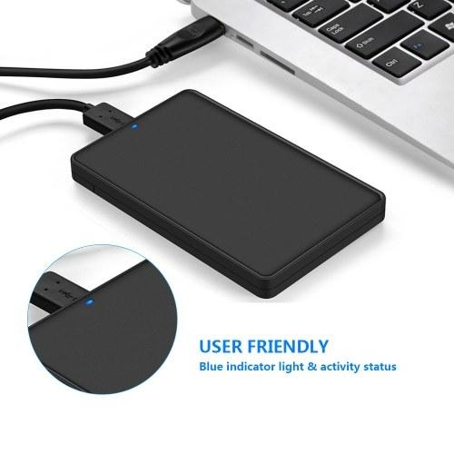 Walmeck 2.5-inch SATA SDD//HDD USB 3.0 External Interface USB 3.0 5Gbps Micro Interface 2.5-inch SATA Interface Hard Box SDD//HDD