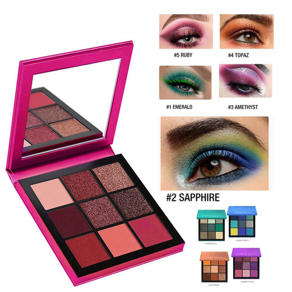 9 colors makeup eyeshadow pallete matte shimmer eyeshadow pigmnet glitter eye shadow powder palette cosmetic makeup