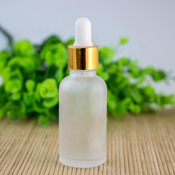 empty frosted clear 30ml glass bottle dropper with gold silver black lids and eye dropper for essential oil e liquid 30ml