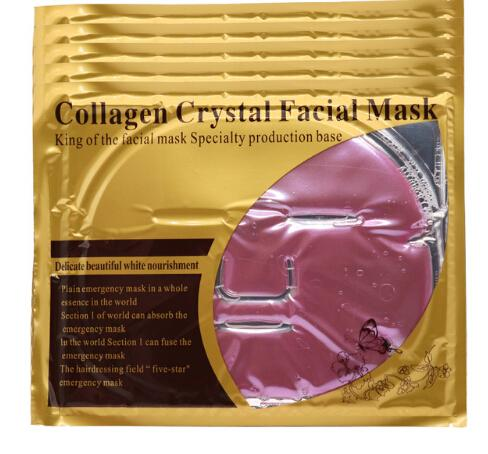red wine bio-collagen facial mask face mask crystal gold facial mask moisturizing 5pcs 2018 new