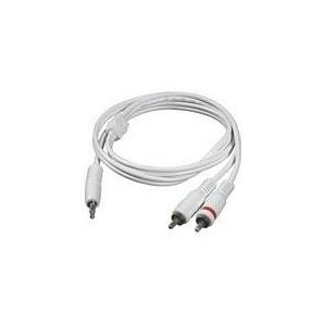 C2G - Audiokabel - 26 AWG - Mini-Phone Stereo 3,5 mm (M) - bis - RCA (M) - 1,0m - abgeschirmt - weiß - für Apple iPod, iPod classic, iPod mini, iPod nano, iPod shuffle, iPod touch (1G, 2G) (80125)