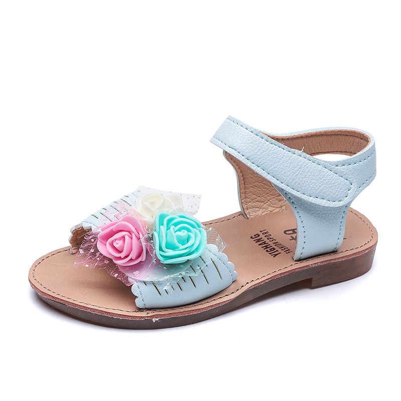 Baby / Toddler Girl's Mesh Colorful Floral Decor Sandals