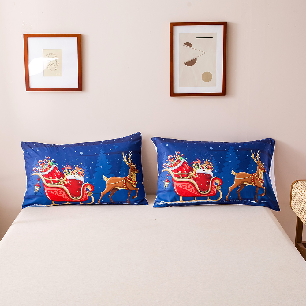 Christmas Cartoon Printed Quilts Summer Thin Air-conditioned Comforter Queen Size Colcha Duvets Single Bed