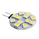 G4 6W 12x5050SMD 5500-6500K Cool White Light LED Spot Bulb(DC 12)