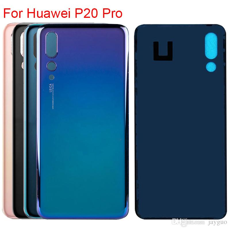 New Back Battery Cover Case Glass Housing Rear Door Case Replacement For HUAWEI P20 Pro + Adhesive Sticker