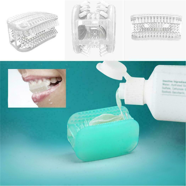 360 degree chewing toothbrush silicone not use hand lazy mini teeth brush portable cleaning whitening toothbrush for travel new