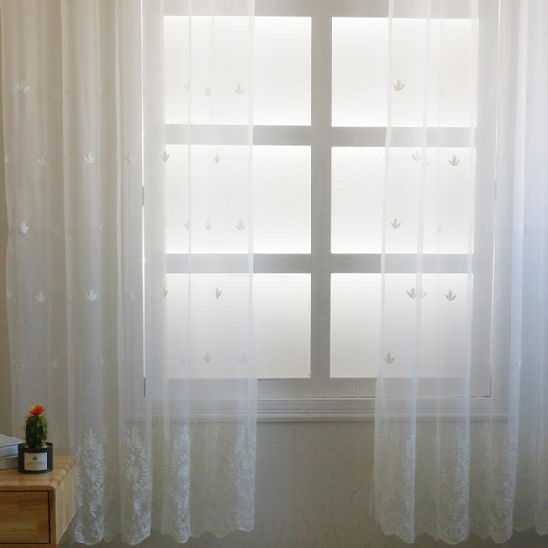 Curtain Window Shades Embroidered CurtainS Kitchen Bedroom Modern Blinds Decoration High Color Saturation Visible Texture