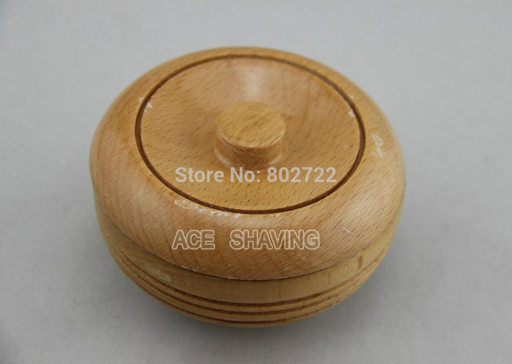 Slight Defect Surface Beech Wood Shaving Bowl Shaving Mug With A Lid Wooden Shaving Cup
