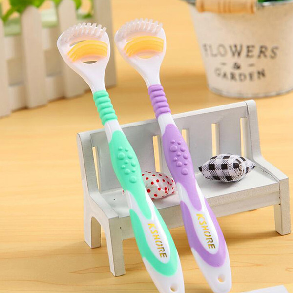 k shore tongue clean toothbrush gingival dew double clean tongue coat brush handle gold 908 500pcs