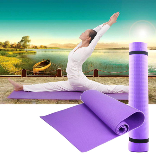 Yoga Mat Exercise Pad 6MM Thick Non-slip Gym Fitness Pilates Supplies For Yoga Exercise drop shipping