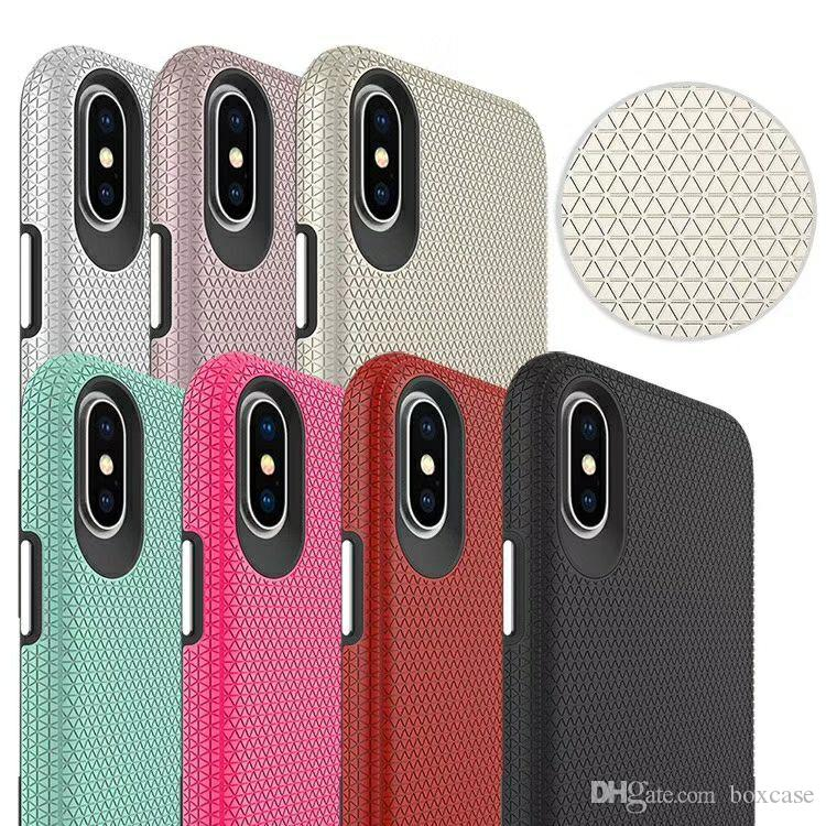 TPU+PC Rugged Armor Case for iphone 11 Pro Max 6 6s 7 8 Plus X Xs XR Shockproof Cover Built-in Metal