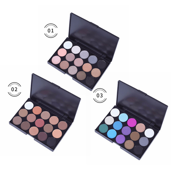15 color smokey eyeshadow palette waterproof smudge-proof lasting colorfast shimmer matte eye shadow 2019