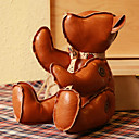 Fantastic Brown PU Leather Plush Bear Puppet Toy