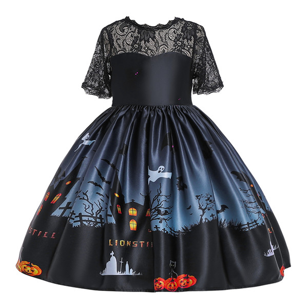 2019 halloween costume party kids children cartoon dresses for performance all saints day girls cosplay dresses