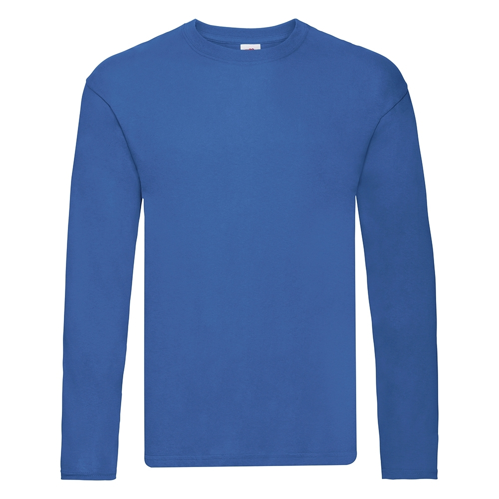 Fruit Of The Loom Mens Original Long Sleeve 100% Cotton Tee L - 41/43' Chest