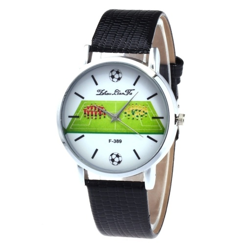 F-389 Fashion Watches Quartz Luxury Leather Wrist Watch British Style with Football Player Pattern for FIFA World Cup