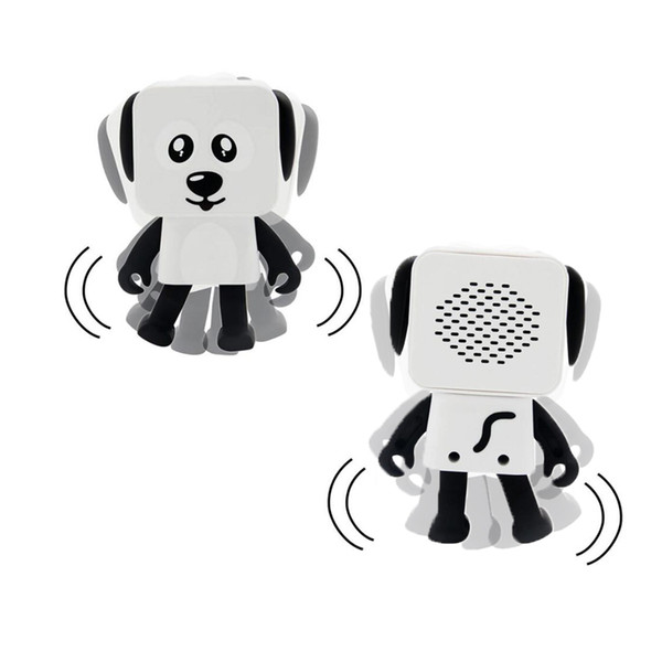 2018 mini super cut smart dancing robot dog bluetooth speaker multi portable bluetooth speakers new years christmas gift for child kids 50pc