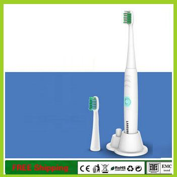 wholesale-ultrasonic electronic electric toothbrush waterproof soft elastic nozzles oral hygiene dental care 2 colors with spare head