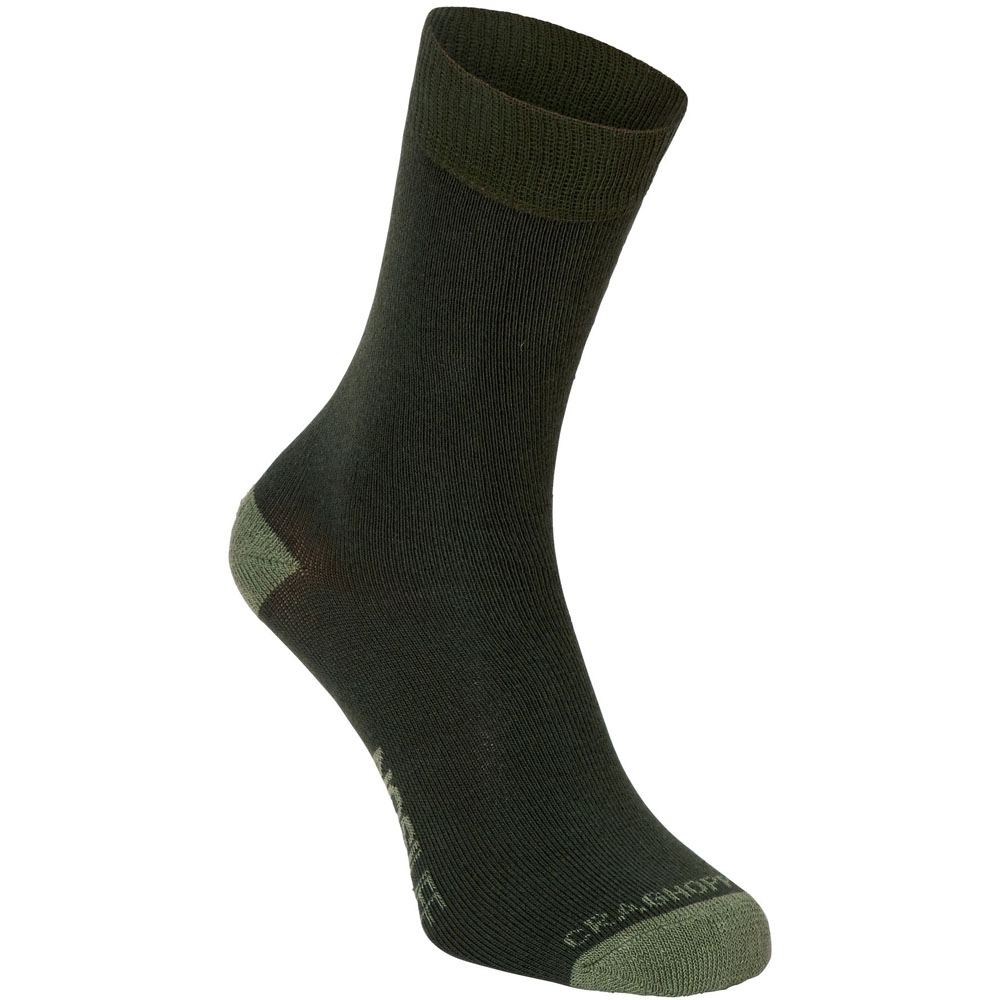 Craghoppers Mens NosiLife Travel Cushioned Insect-Repellent Socks UK Size 6-8