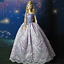 Barbie Doll Dream Purple Chinese Style Wedding Dress