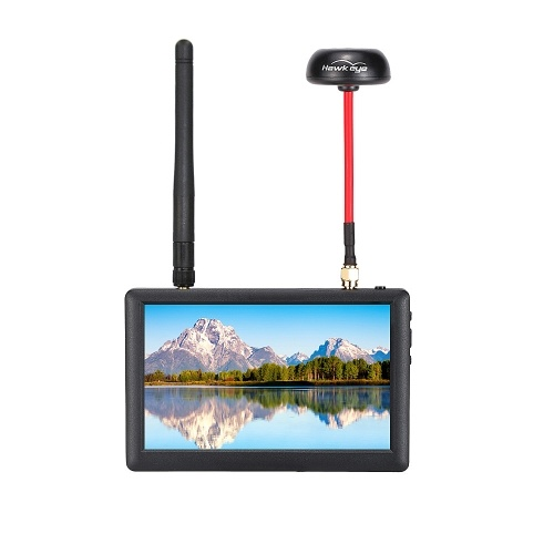 HawkEye Little Pilot 3 5.8G FPV Monitor with Diversity Dual Receiver
