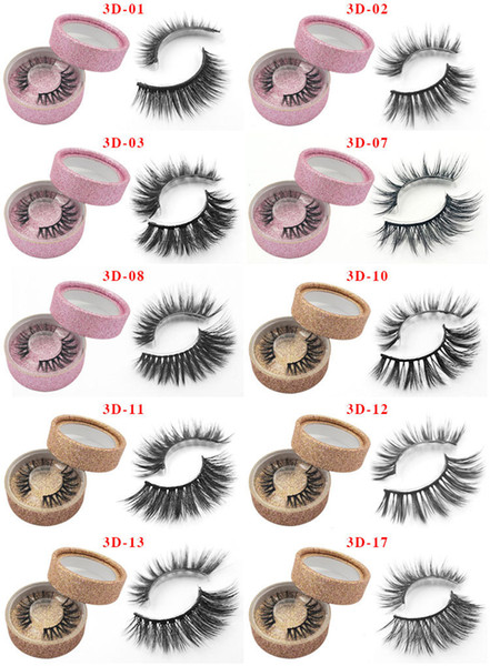3d mink eyelashes natural long curling lifelike soft thick false mink lashes eyes makeup 10styles mixed style
