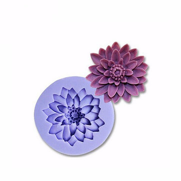 Chrysanthemum Silicone Fondant Mold Cake Decorating Mould Gumpaste Sugarpaste Mold FDA LFGB