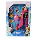 Frozen Sparkle Plush Doll Princess Elsa and Anna with Cosmetic Accessories