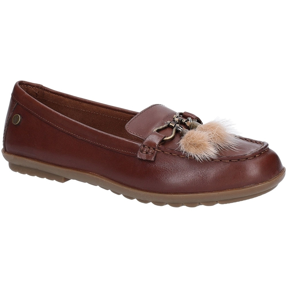 Hush Puppies Womens Aidi Puff Slip On Leather Loafer Shoes UK Size 3 (EU 36)