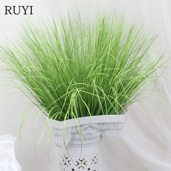 60cm Artificial leave onion grass Fake plant decoration flower arranging lawn engineering Home Decoration simulation plants