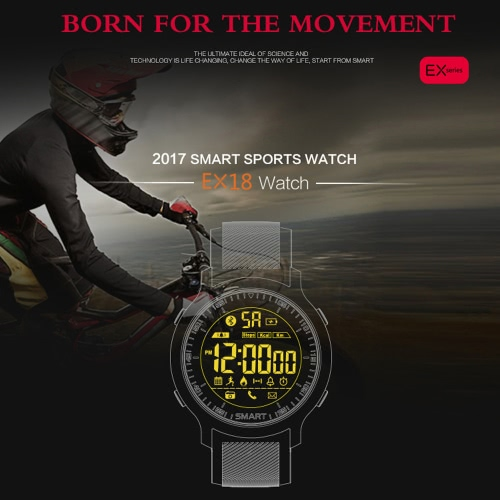 EX18 Sports Smart Watch BT 4.0 for iPhone 8/8 Plus iPhone X and Other Phones
