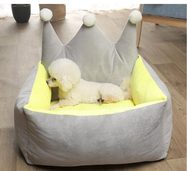 comfortable dog sofa cat nest removable pet bed easy to clean dog house kennel princess pet sleepping cushion puppy teddy basket
