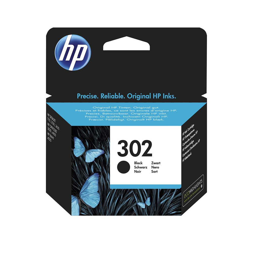 HP Original 302 Black Ink Cartridge (F6U66AE)