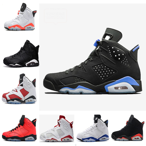 mens 6 basketball shoes unc black infrared 6s alternate hare angry bull black cat maroon carmine olympic oreo sport sneakers eur 41-47