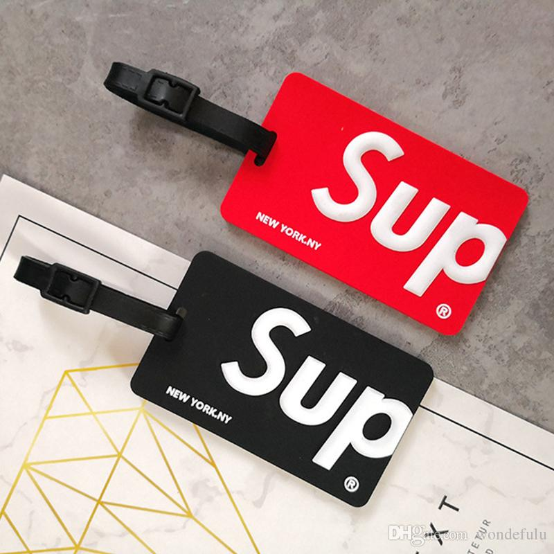 Wholesale Fashion Sup Luggage Box Tag Boarding Pass Checked Red Color in Stock DHL Free Shipping