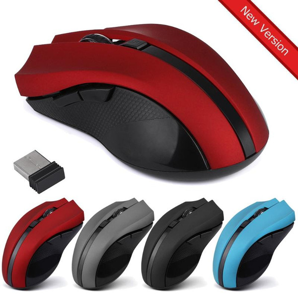 Wireless Mouse USB Computer Mice Mini Ergonomic Mouse Optical 2.4GHz 6 Keys 2400DPI Gamer for Laptop PC In stock 29