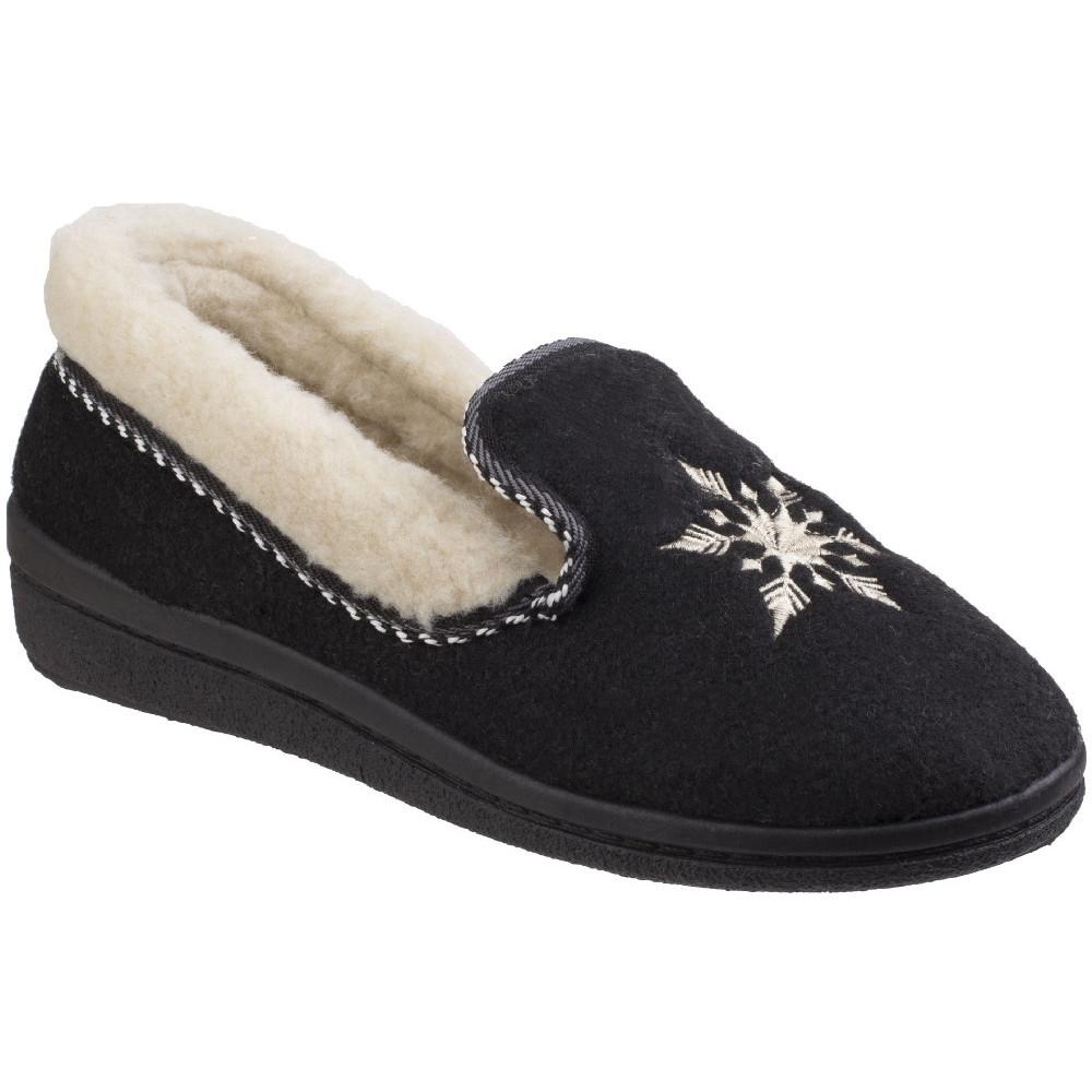 Mirak Womens Snowflake Lightweight Embroidered Slippers UK Size 7 (EU 40)